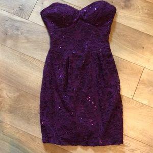 B Darlin Plum lace Dress
